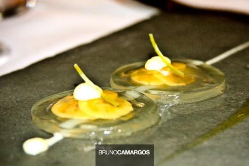 Ravioli de Limão e Banana Ouro e Caramelo de Priprioca