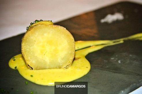 Batata doce com bernaise de chimarrão