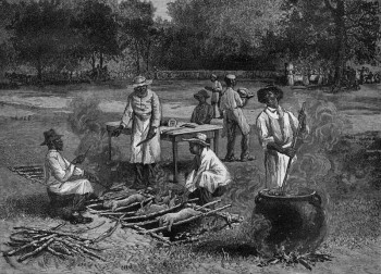 A origem de churrasco