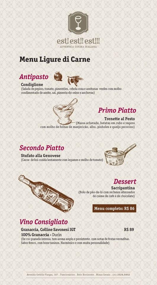 Menu da Ligúria (Carne)