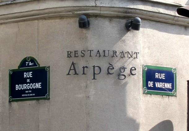 Restaurantes de Paris (L'arpege)
