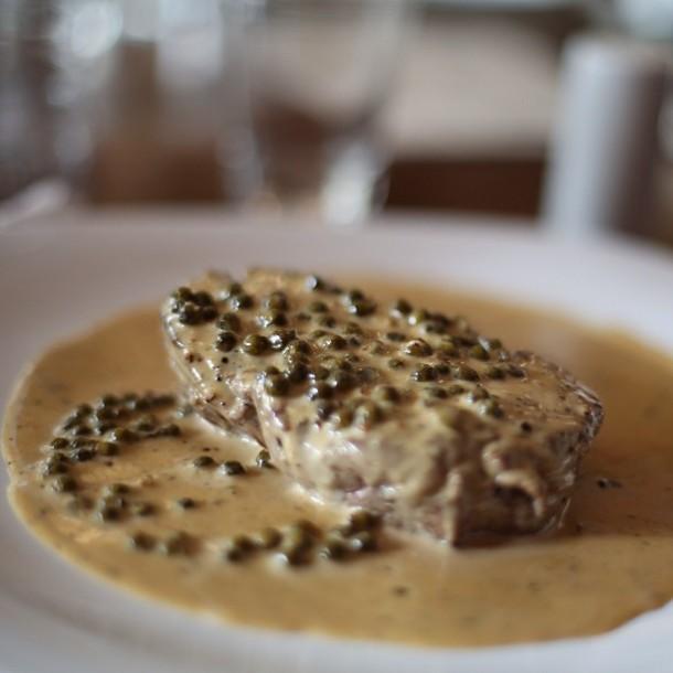 Steak Poivre perfeito do Borracharia