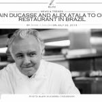 Restaurante de Alex Atala e Alain Ducasse no Rio