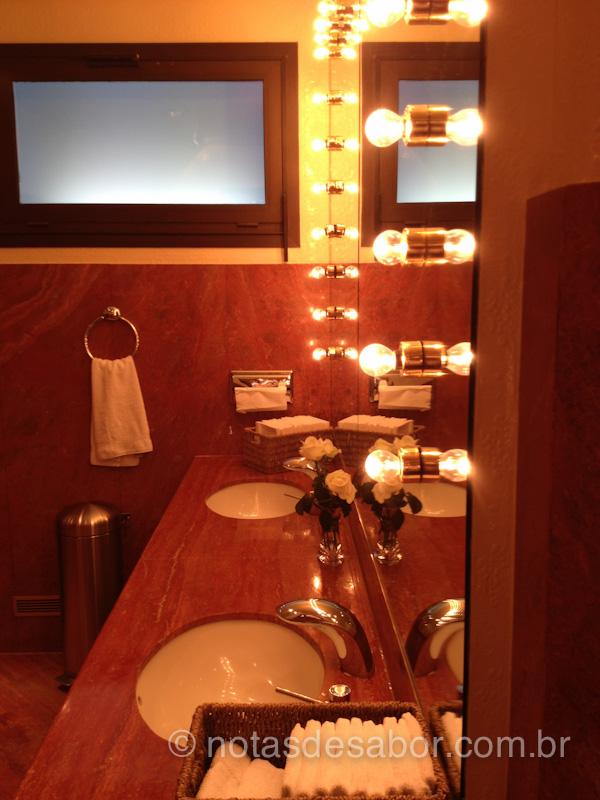 Banheiro do Restaurante Paul Bocuse