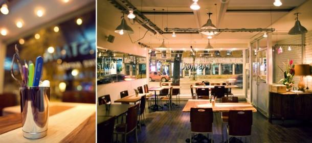 Salão do Restaurante Pastaga em Montreal
